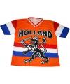 Nederland supporters t-shirt met zwarte leeuw en vlag 164 (14 jaar) Oranje