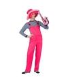 Neon roze tuinbroek voor dames en heren XL Roze