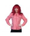 Oktoberfest blouse rood met wit 44-46 (2XL/3XL) Rood