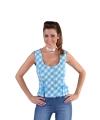 Oktoberfest mouwloos hemd blauw 38 (S) Multi