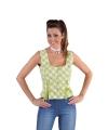 Oktoberfest mouwloos hemd groen 42 (L) Groen