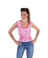 Oktoberfest mouwloos hemd roze 40 (M) Roze