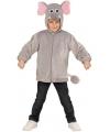 Olifanten verkleedkleding hoodie voor kids 98 Grijs