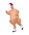Opblaas Kerst kalkoen kostuum voor volwassenen One size Multi