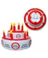 Opblaasbare taart hoed happy birthday