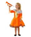 Oranje Koninginnen kleding voor meiden 3-5 jaar (S) Oranje