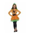 Oranje pompoenen jurkje voor meiden 145-158 (10-12 jaar) Oranje
