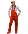 Oranje tuinbroek voor kinderen 152 Oranje