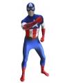 Originele morphsuit Captain America print XL Multi