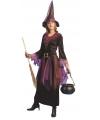 Paars heksen kostuum inclusief hoed 36-38 (S/M) Multi