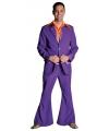 Paarse colbert en broek voor heren 60-62 (XL) Paars