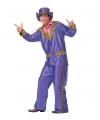 Paarse disco suit voor heren M Multi
