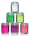 Paarse UV make up glitters