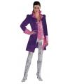 Paarse markiezin jas voor dames 42 (XL) Paars