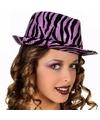 Paarse zebra hoeden