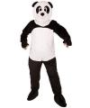 Panda beer kostuum met groot pluche masker S Multi