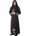 Pastoor des doods kostuum 48-50 (M) Zwart