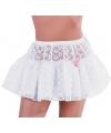 Petticoats wit kant voor dames S Wit