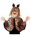 Peuter poncho met luipaard print 104-116 Bruin