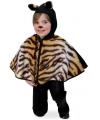 Peuter poncho tijger met capuchon 98 Bruin