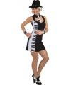 Piano outfit voor dames 42 (XL) Zwart
