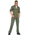 Piloten overall verkleed kostuum voor volwassenen 54/56 (L/XL) Groen