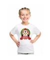 Pinguin kerstmis shirt wit voor jongens en meisjes L (146-152) Multi
