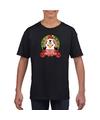 Pinguin kerstmis shirt zwart voor jongens en meisjes XL (158-164) Zwart