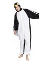 Pinguin onesie dierenpak kind 140 Multi