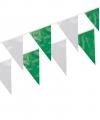 Groen / wit vlaggenlijnen 10 meter