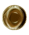 Metallic gouden wegwerp bordjes 23 cm