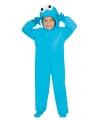 Pluche monster outfit blauw voor kinderen 140-152 (10-12 jaar) Blauw