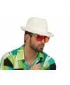Witte pluche hoedje voor volwassenen