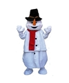 Pluche sneeuwpop verkleedkleding One size Wit