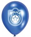 Politie ballonnen zes stuks