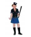 Politie jurkje deluxe voor meisjes 140 Multi