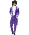 Prince look-a-like verkleedkleding voor heren 52-54 (L) Paars