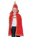 Prins carnaval kinder cape met hoed 152-164 Multi
