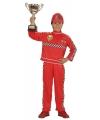 Race coureur kostuum voor jongens 116 Rood