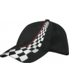 Zwarte Formule-1 racing baseball caps