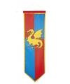 Ridder wapenschild op vlag blauw/rood