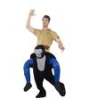 Ride on dierenpak kostuum gorilla voor volwassenen One size Multi