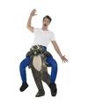 Ride on kostuum dinosaurus voor volwassenen One size Multi