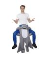 Ride on kostuum haai voor volwassenen One size Multi