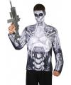 Robot shirt verkleedoutfit S Multi