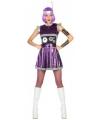 Robot verkleedkleding paars voor dames M/L (38-40) Paars