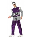 Robot verkleedkleding paars voor heren XL Paars