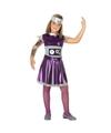 Robot verkleedset voor meisjes 128 (7-9 jaar) Paars
