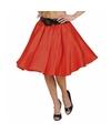 Verkleed Rock and Roll rok rood voor dames