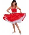 Rode jaren 50 jurk voor dames 38 (M) Rood